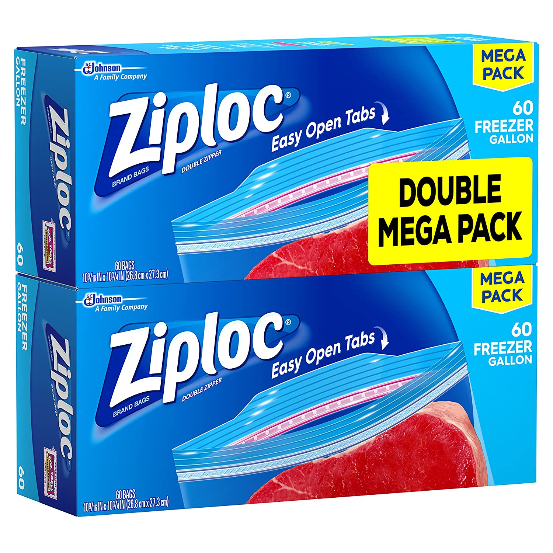 Bolsas Ziploc congelador galón Mega Pack 5126773, 120 Count ...