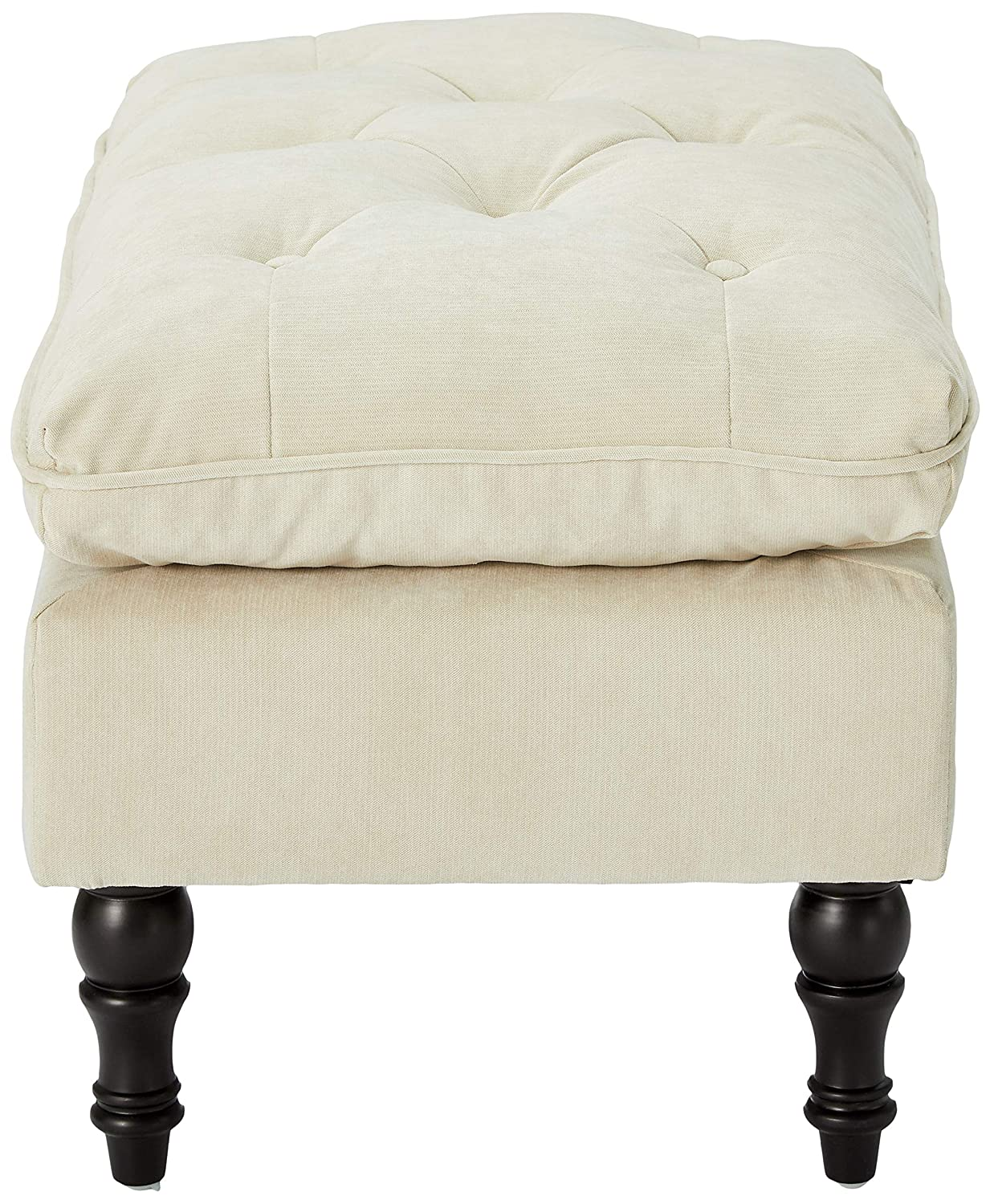 Christopher Knight Home 216601 Living Cordoba Tufted Fabric Ottoman Footstool, Cream