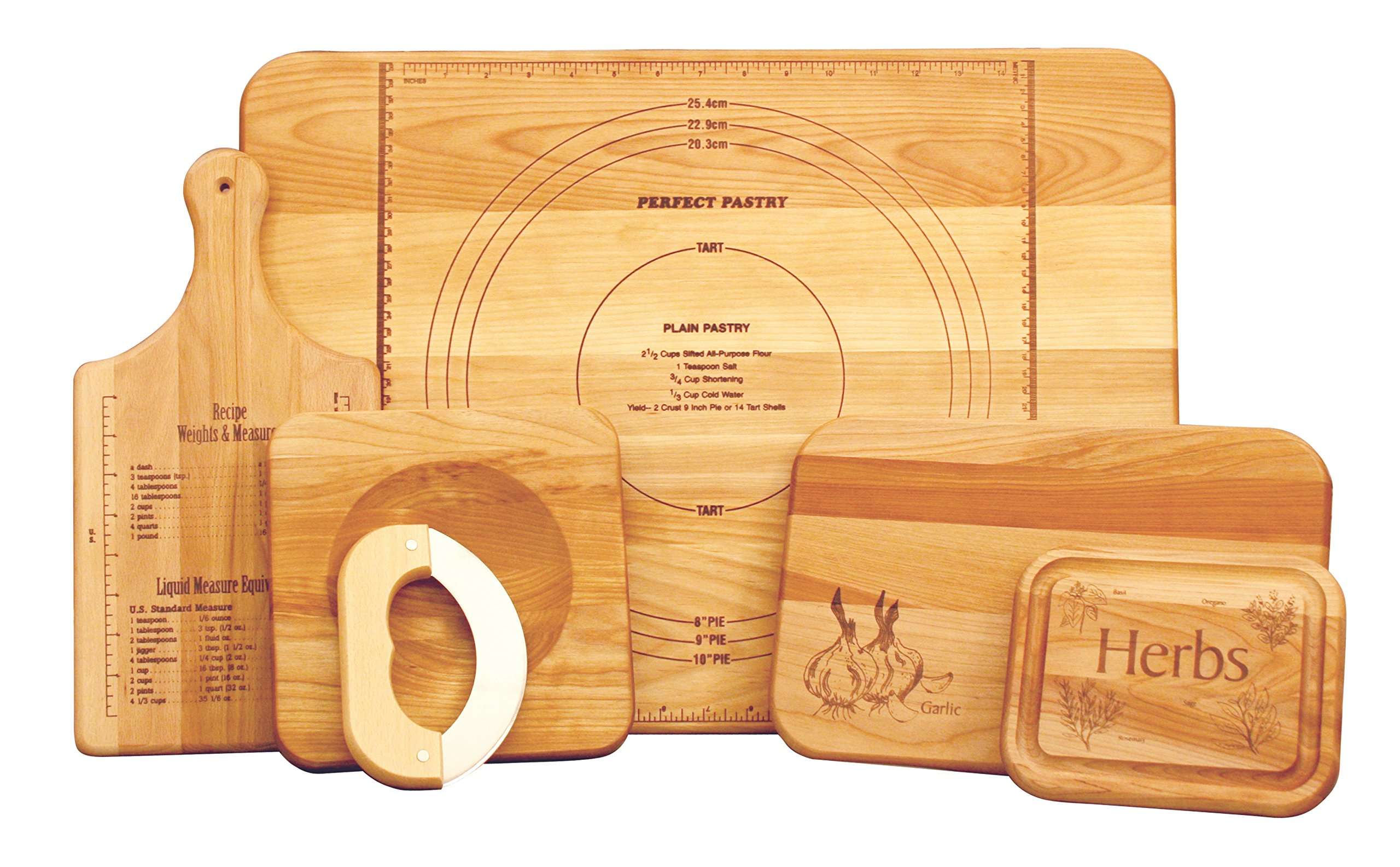 Catskill Craftsmen Ultimate Chef's Set of 5 Boards, Assorted Sizes by Catskill Craftsmen