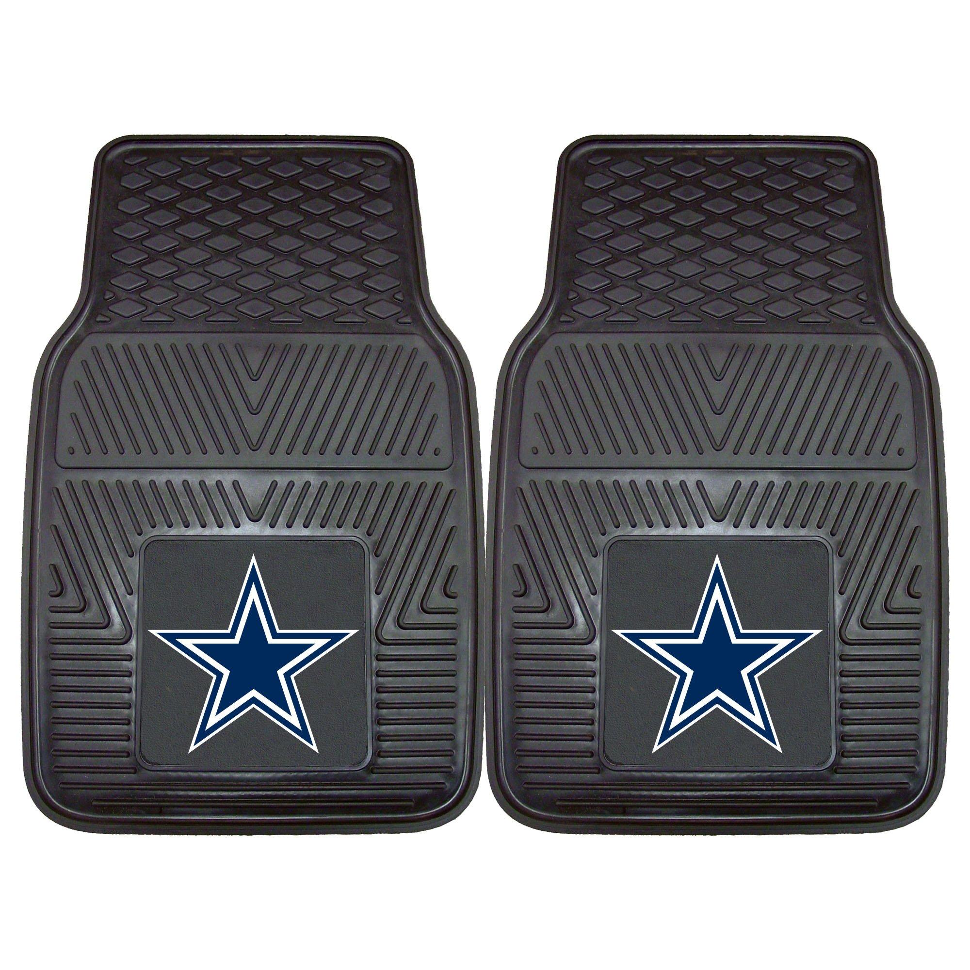 FANMATS NFL Dallas Cowboys Vinyl Heavy Duty Car Mat,Set of two.