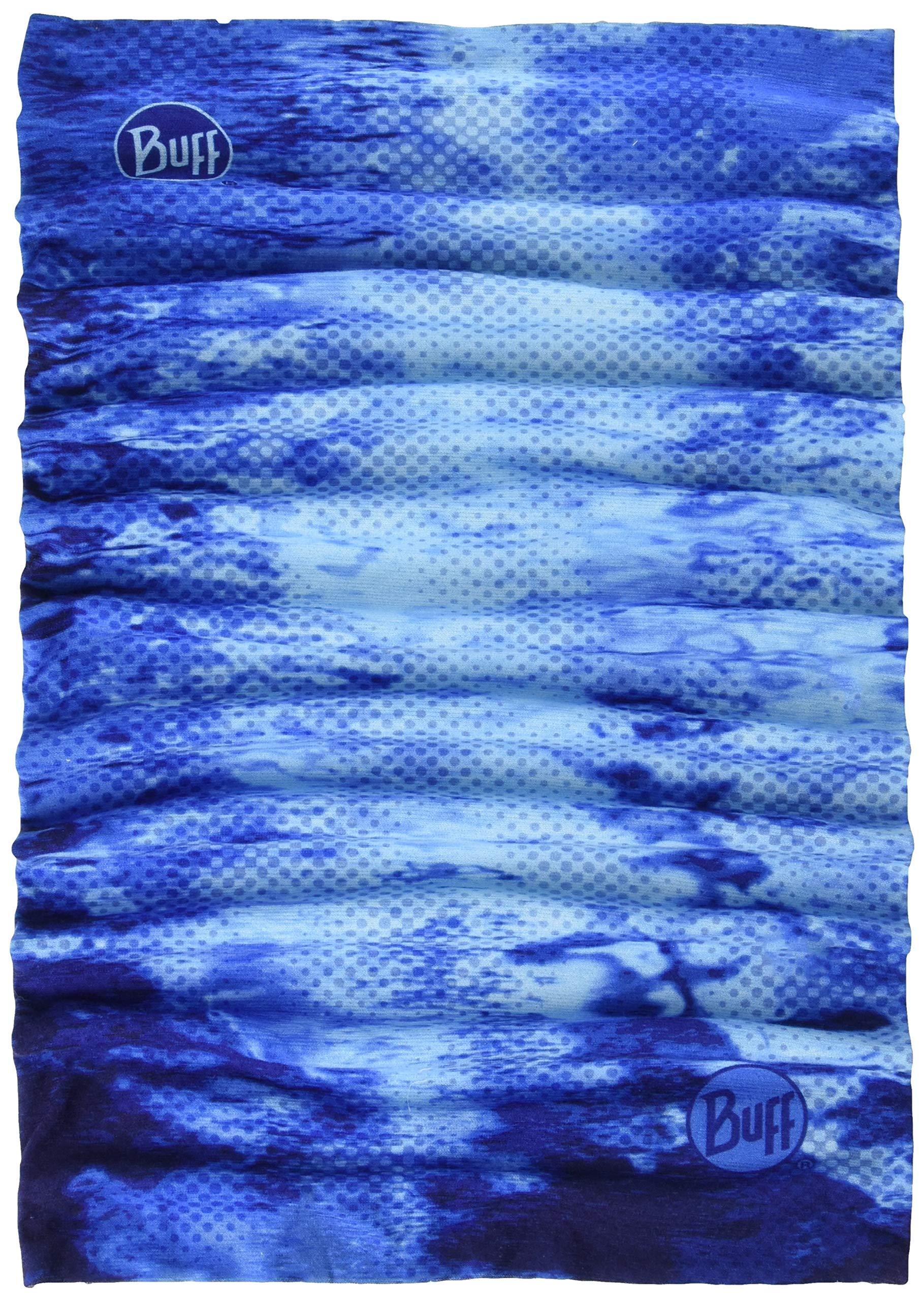 BUFF Unisex Coolnet UV+ Insect Shield Pelagic Camo Blue, X-Large