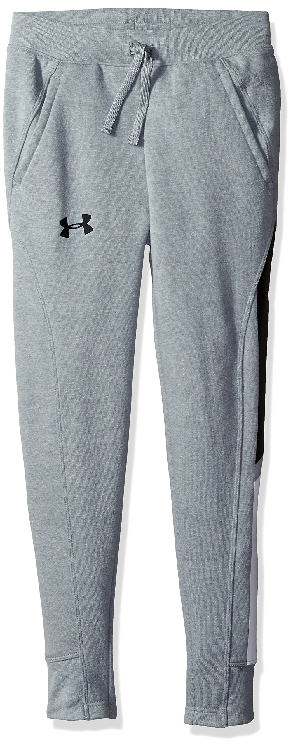Under Armour Boys Rival Jogger, Steel Light Heather (036)/Black, Youth Small by Under Armour