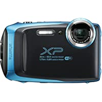 Fujifilm XP Tough Point and Shoot Digital Camera, Sky Blue (XP130 Sky Blue)