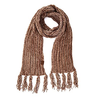 1350c7fe3d098 Hatsandscarf Chenille Soft Super Chunky Thick Long Big Large Cowl Fringe  Scarf(SF-1815) (Taupe) at Amazon Women s Clothing store