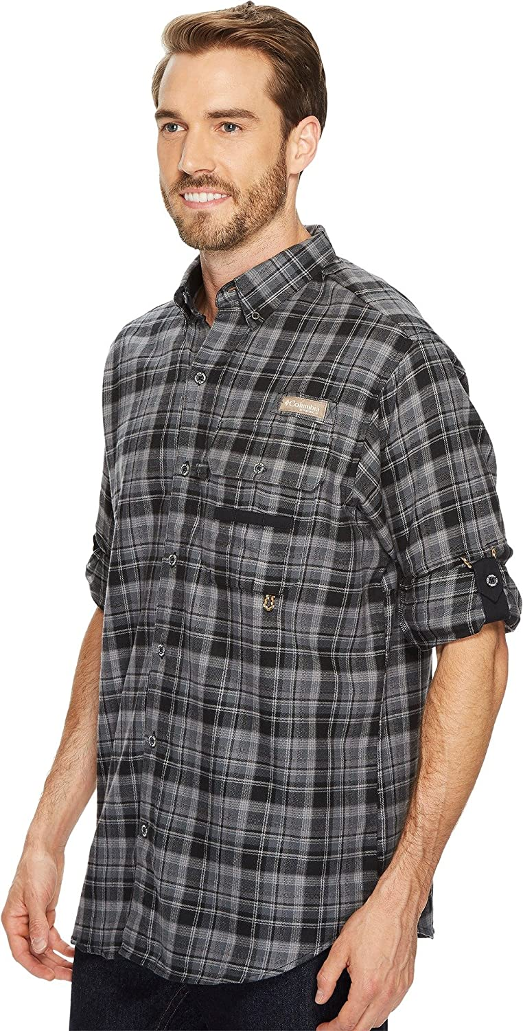 44d1f954aa93e Columbia Men's Sharptail Flannel Black Plaid XX-Large at Amazon Men's  Clothing store: