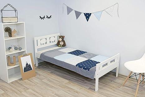 ULLENBOOM Manta para bebé de algodón | Colcha infantil suave | Ideal para cuna, cochecito, arrullo, juegos | 100x140 cm | azul claro gris: Amazon.es: Bebé