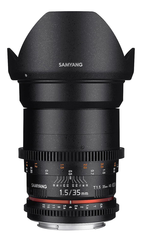 Samyang F Objetivo para vídeo VDSLR para Nikon F distancia focal fija