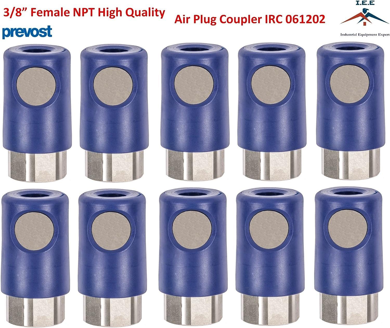 Tapered Thread 5 pk. Prevost IRC061201 Regular Female Threaded Coupler 1//4 in
