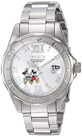 e2fc0bfb731 Image Unavailable. Image not available for. Color  Invicta Women s Disney  Limited Edition Quartz Watch with Stainless-Steel ...