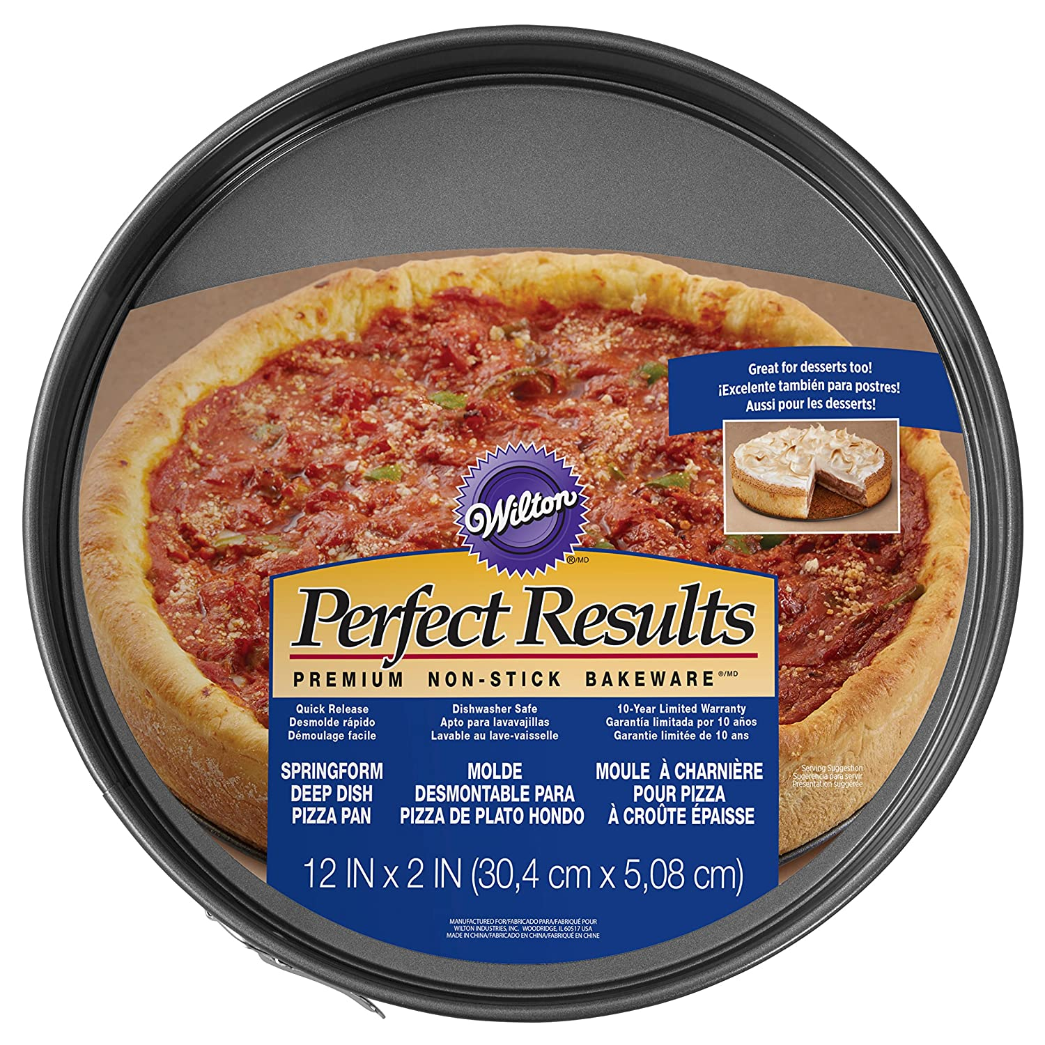 Amazon.com: Wilton Deep Dish Pizza and Cheesecake Springform Pan, 12-Inch: Kitchen & Dining