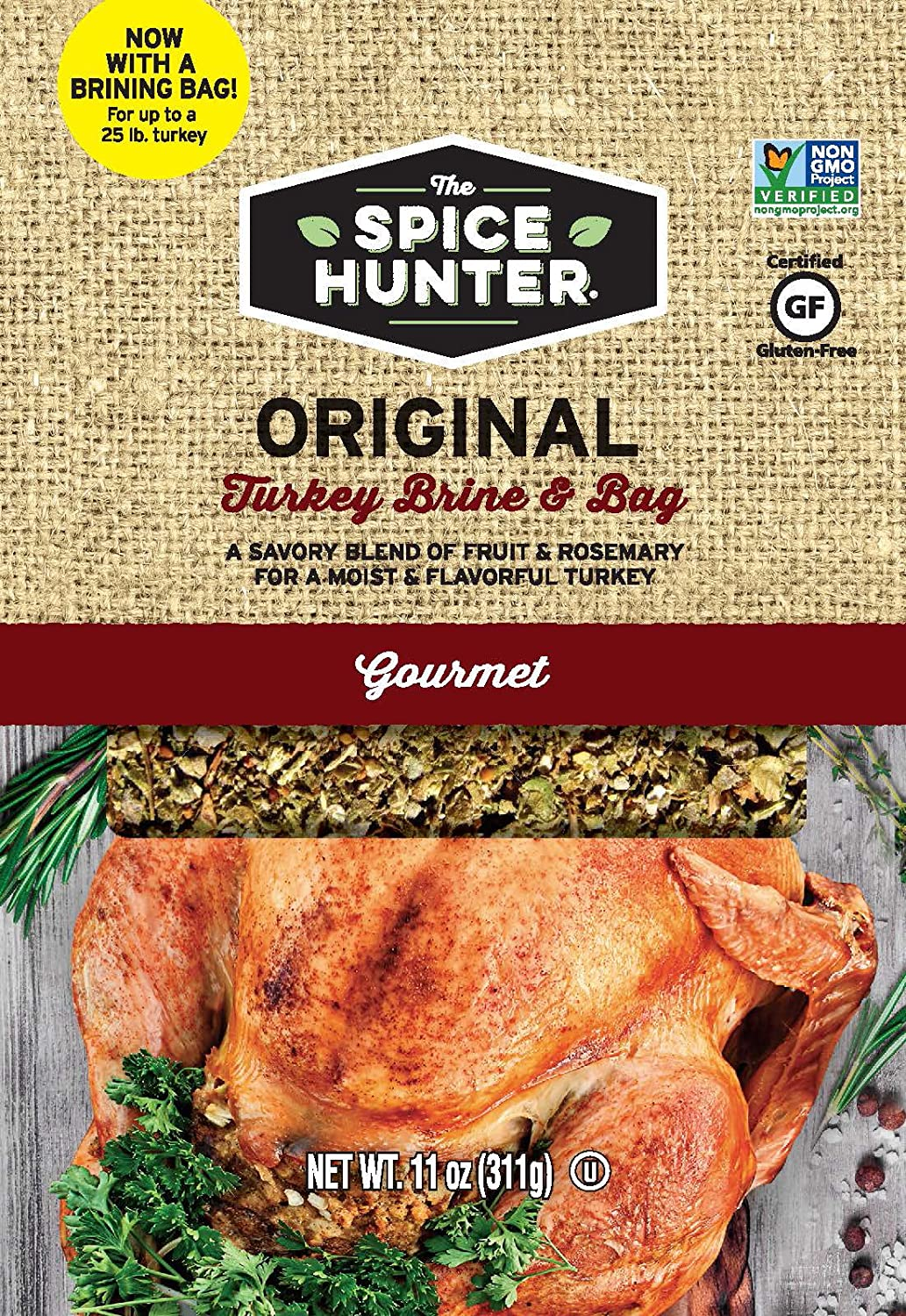 Spice Hunter Turkey Brine & Bag, Original, 11 Ounce