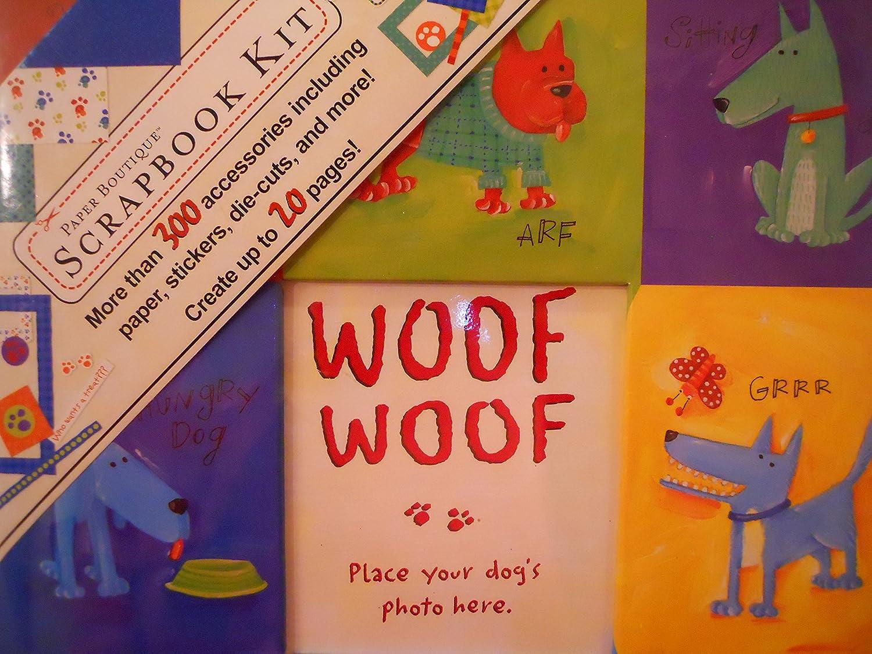 CRAFTECAFE DOG KID TITLE Premade paper piecing scrapbook diecut piece page album