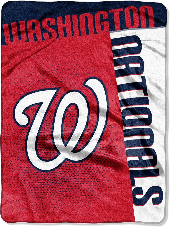 "Officially Licensed MLB Washington Nationals ""Strike"" Raschel Throw Blanket, 60"" x 80"", Multi Color"