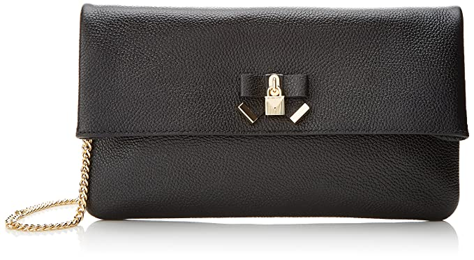 1f6328dfcc46 Michael Kors Womens Everly Md Fold Over Clutch Clutch Black (Black)   Amazon.co.uk  Shoes   Bags
