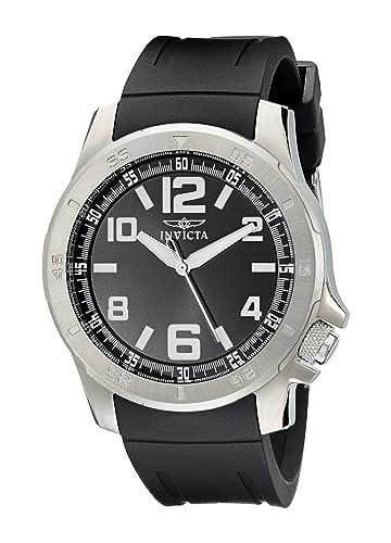 Invicta 1902 - Reloj de Pulsera Unisex Hombre, Poliuretano, Color Negro: Amazon.es: Relojes