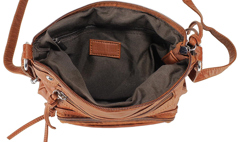 bd534a6c844 Scarleton Trendy Vier Zip Crossbody Bag H199704 - Brown  Handbags   Amazon.com