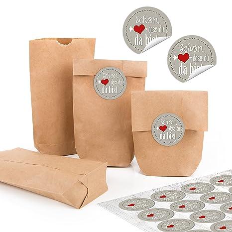 24 pequeñas bolsas marrones Natural Papel Kraft papel 9 x 15 ...