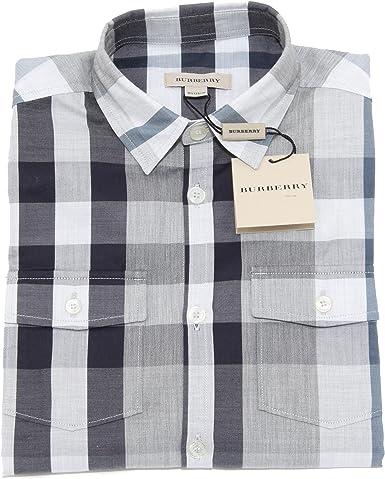 Burberry - Camisa - para niño gris X-Small: Amazon.es: Ropa y accesorios