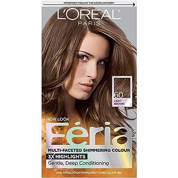 Amazon Com L Oreal Paris Feria Hair Color 60 Light Brown