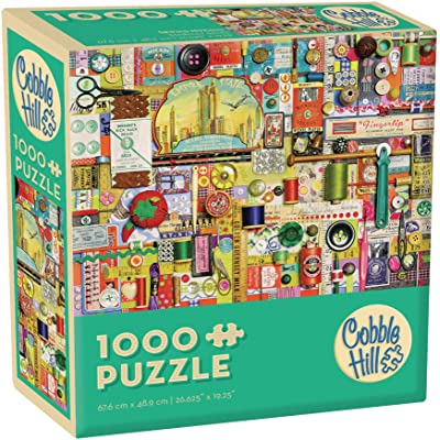 Cobblehill 57186 MO 1000 Sewing Notions Puzzle, Various: Toys & Games