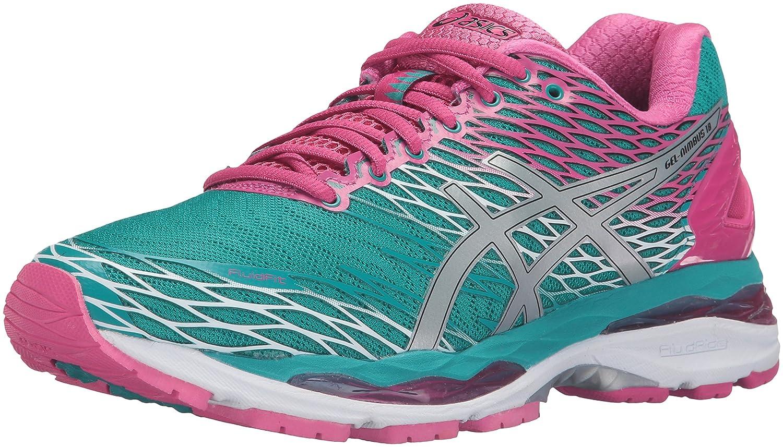 ASICS Women's Gel-Nimbus 18 Running Shoe B017TGLTDE 7 B(M) US|Lapis/Silver/Sport Pink