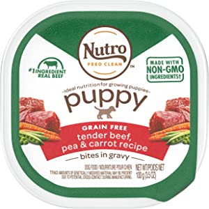 Nutro Cuts in Gravy Grain Free Wet Dog Food Adult & Puppy, 3.5 oz Trays (pack of 24)