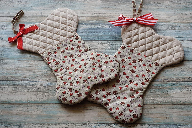 Bone Shape Dog Christmas Stocking