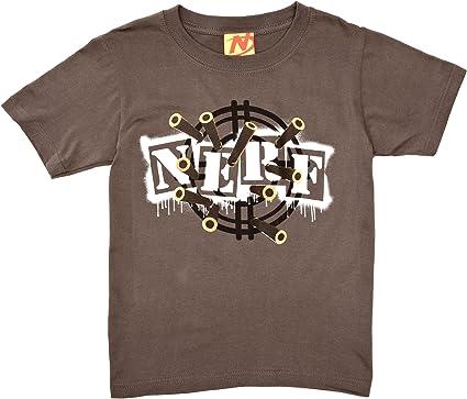Nerf - Camiseta con Estampado con Cuello Redondo para niño, Talla 7-8 Years - Talla Inglesa, Color Carbón: Amazon.es: Ropa y accesorios