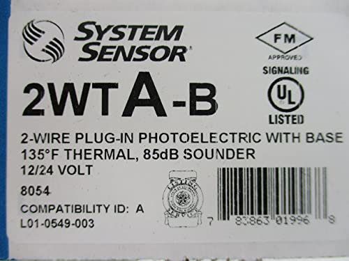 System Sensor 2WTA-B – 2-Wire Photoelectric Smoke Detector