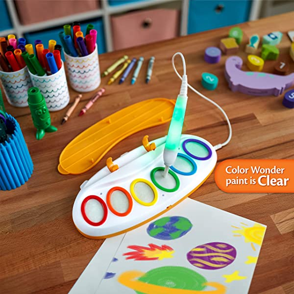 Crayola Color Wonder Magic Light Brush drawing and painting toy for kids