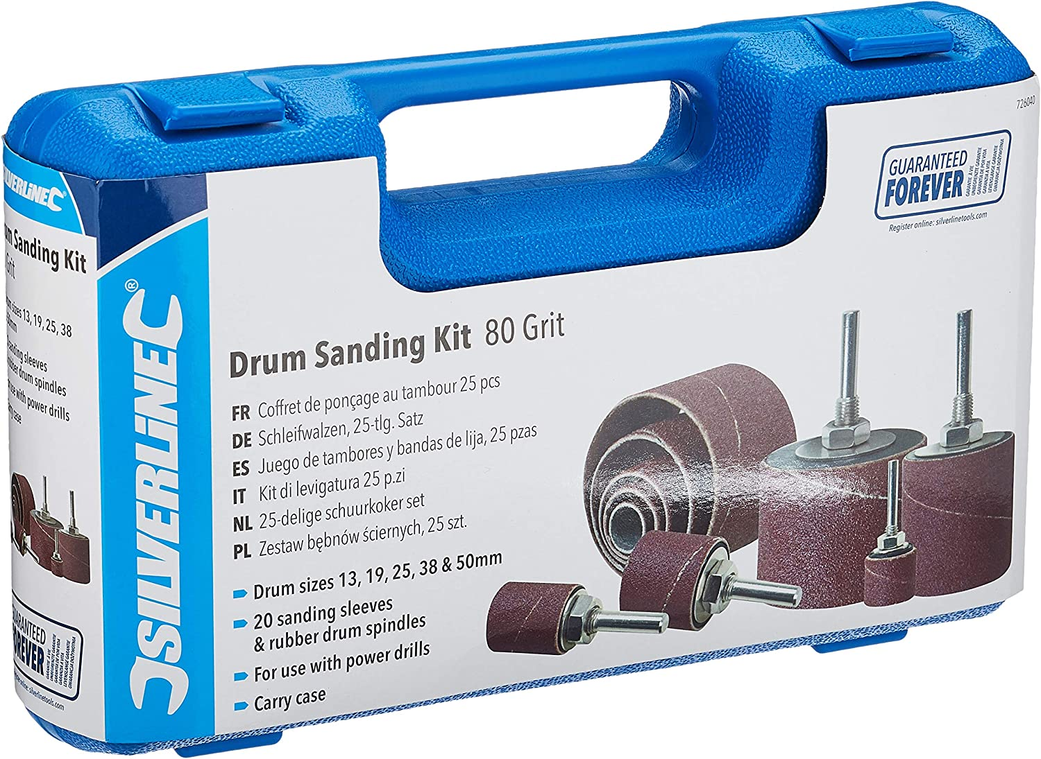 726040 Silverline 80 Grit Drum Sanding Kit Power