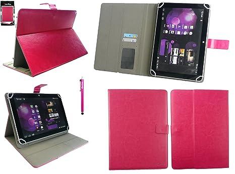 Emartbuy® bq Aquaris M10 Tablet 10.1 Pulgada Universal Range Hot Rosa Ángulo Múltiples Executive Folio Funda Carcasa Wallet Case Cover con Tarjeta de ...