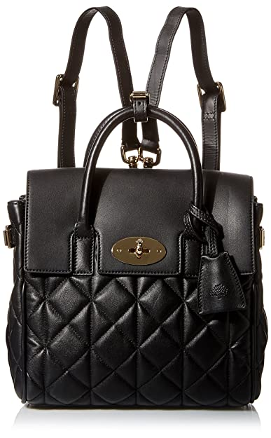 Mulberry Women s Mini Cara Delevingne Bag in Quilted Black Nappa Leather 2224d4bade