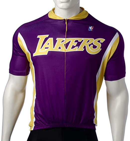 Amazon.com   NBA Los Angeles Lakers Men s Cycling Jersey   Nba Sports  Jerseys   Sports   Outdoors e88505cad