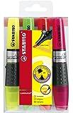 STABILO LUMINATOR - Pochette de 4 surligneurs à encre liquide - Coloris assortis