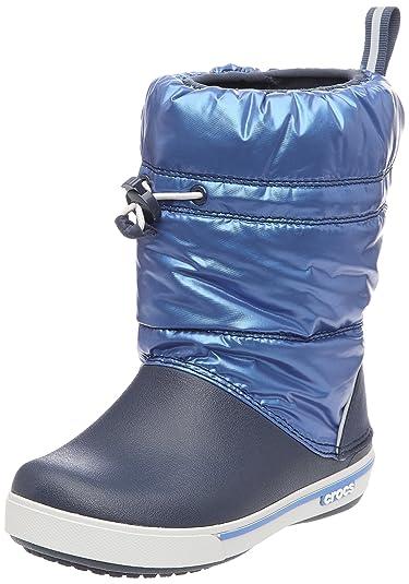 Crocs Crocband Iridescent Gust Boot, Mixte Enfant Bottes, Noir (Black/White), 33-34 EU