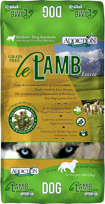 Addiction Le Lamb Grain Free Dry Dog Food, 20 Lb.