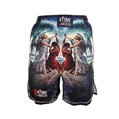 4-Time All American Jacob Wrestled God Sublimated Shorts-UFC, MMA, BJJ, Muay Thai, WOD, NOGI, Wrestling, Kickboxing, Boxing Shorts Youth and Mens sizes, by