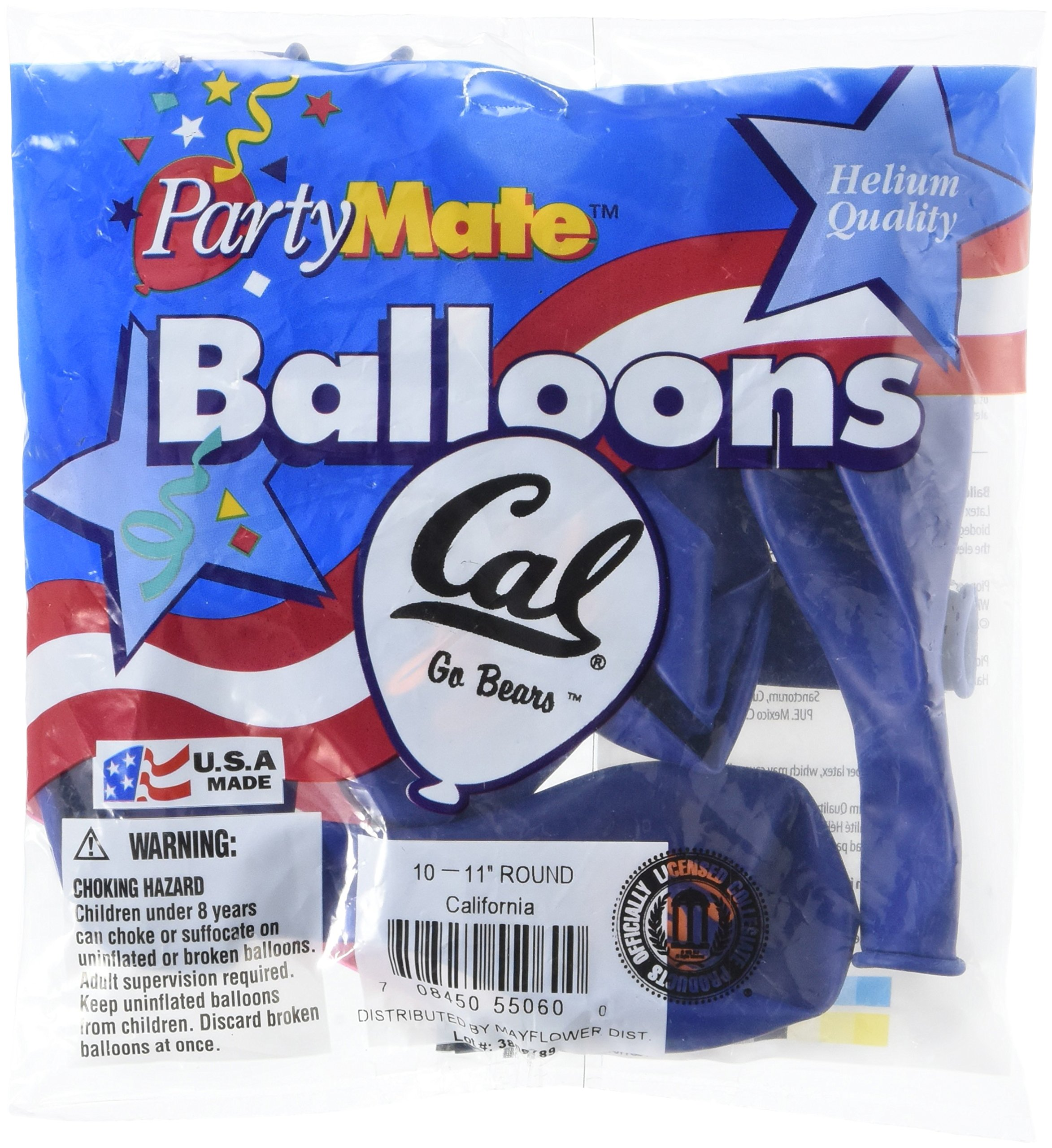 Pioneer Balloon Company 10 Count University of California Latex Balloon, 11'', Multicolor