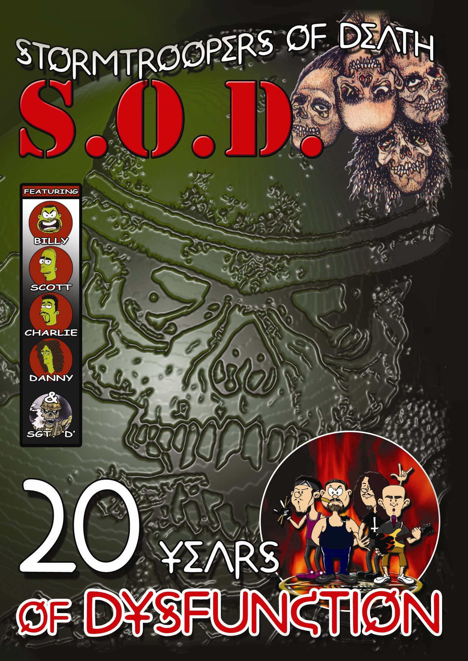 DVD : Stormtroopers of Death - 20 Years Of Dysfunction (Bonus CD, 2PC)