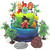 Dragon Ball Z Cake Topper Set Featuring Dragon Ball Z Characters and Themed Accessories