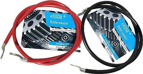 eXODA C/âble de Batterie 100cm c/âble dalimentation en cuivre 50 mm/² avec cosses /à /œillets M8 Rouge 12V c/âble de Voiture