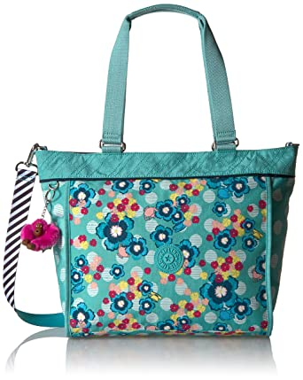352c53e7fea Amazon.com  Kipling Disney s Alice In Wonderland New Shopper Medium Printed  Tote Bag Tea Party  Clothing
