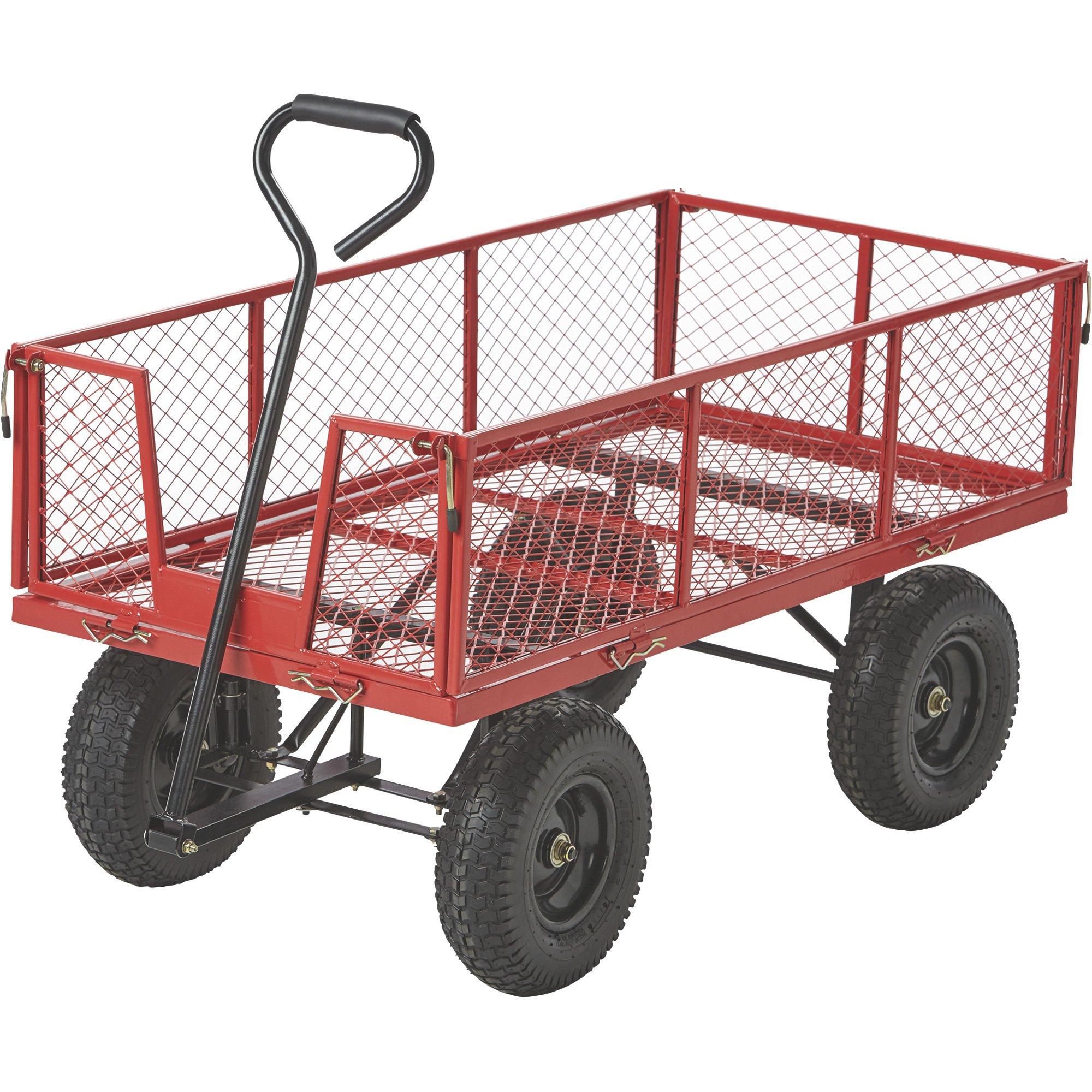 Jumbo Steel Garden Wagon — 1400-Lb. Capacity
