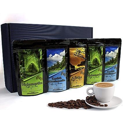 225ecfc83f51c0 Geschenk Set - Länder Kaffee aus aller Welt - Kaffeebohnen im  Geschenkkarton , das perfekte Geschenk