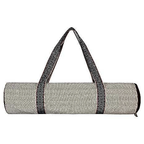 Amazon.com : Anekaant YOG Beige Jacquard Yoga Mat Bag ...