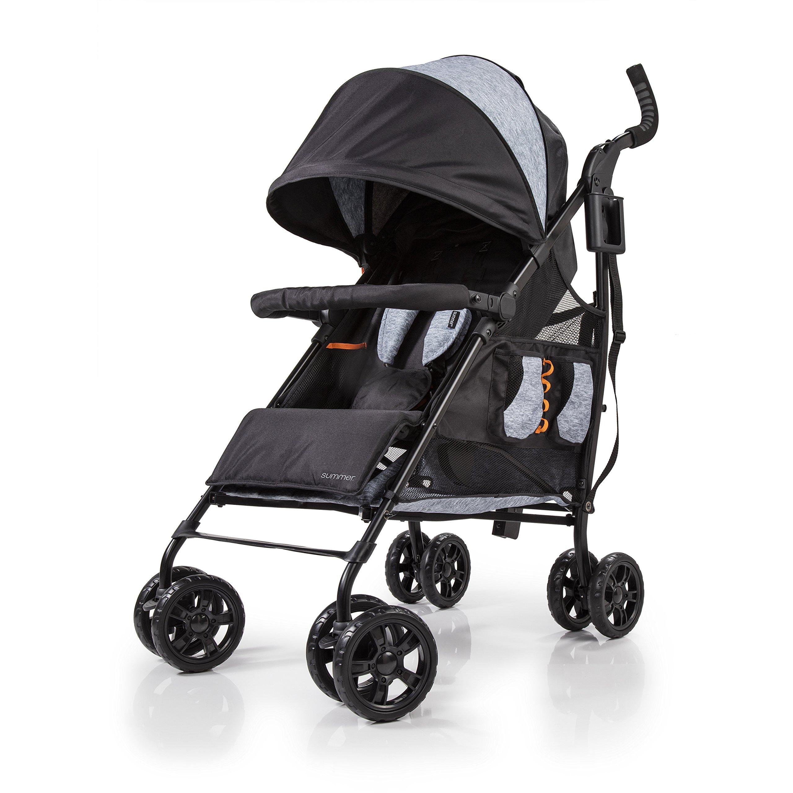 Summer Infant 3DtoteCS+ Convenience Stroller, Gravel Grey