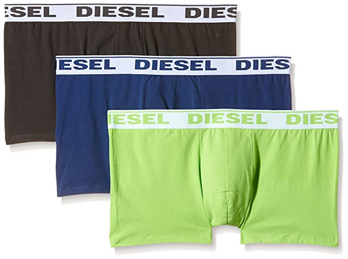 0GAFN, Calzoncillos para Hombre, Multicolor (Black/Green/Blue), XX-Large (Tamaño del fabricante:XXL)(Pack de 3) Diesel