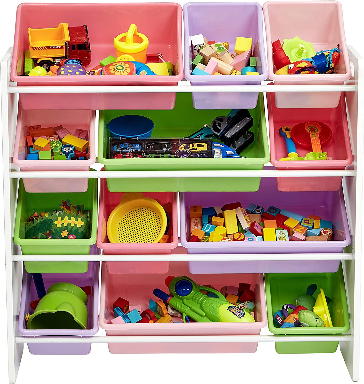 Amazon.com: AmazonBasics organizador de juguetes para niños ...