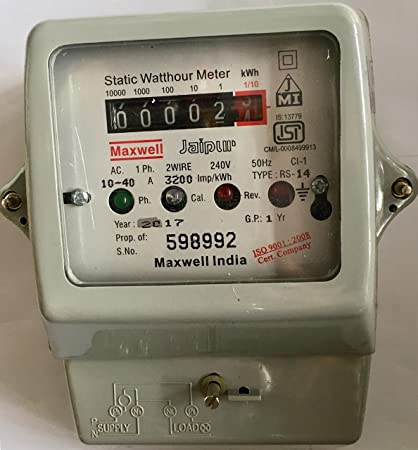 Buy Maxwell Static Sub Meter AC. Single Phase 2 Wire 10-40 ... on